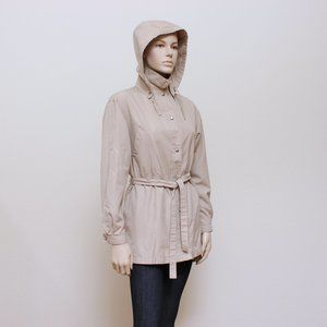 London Fog Trench Coat with Detachable Hood